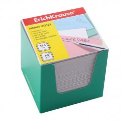 Блок для записей 80*80*80мм, куб, не склеенный, белый, подставка картонная зеленая Erich Krause 36987