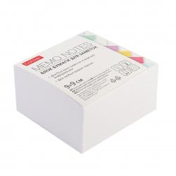 Блок для записей 9*9*4,5 куб белый Hatber PC_059403