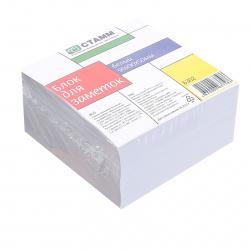 Блок для записей 90*90*50мм, куб, не склеенный, белый Стамм БЗ02