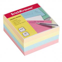 Блок для записей 90*90*50мм, куб, не склеенный, 4 цвета Erich Krause 5139