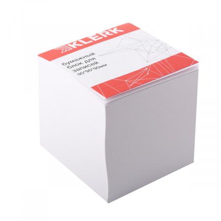 Блок для записей 9*9*9 куб офсет 80г/м2 белизна 96% склеенный KLERK 205823