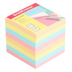 Блок для записей 90*90*90мм, куб, не склеенный, 4 цвета Erich Krause 5140