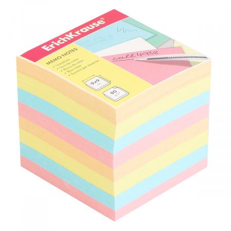 Блок для записей 9*9*9 куб 4 цвета Erich Krause 5140