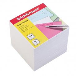 Блок для записей 90*90*90мм, куб, не склеенный, белый Erich Krause 4454