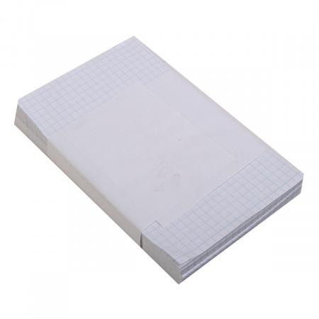 Блок для записей 100*160мм, листовая, не склеенный, белый, клетка Полином 5с3