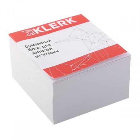 Блок для записей 9*9*5 куб офсет 80г/м2 96% KLERK 205819