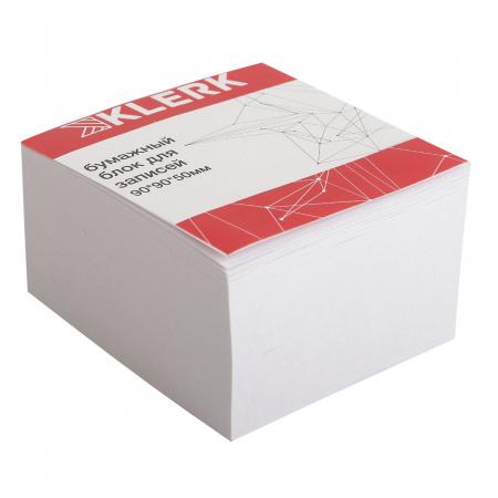 Блок для записей 9*9*5 куб офсет 80г/м 96% склеенный KLERK 205818
