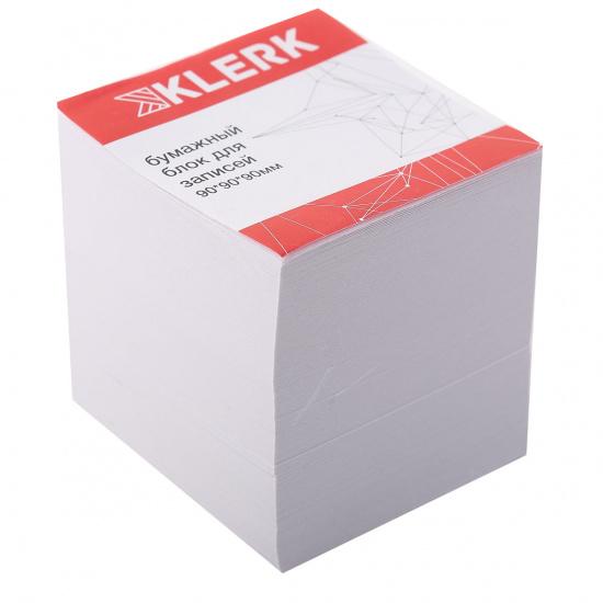Блок для записей 90*90*90мм, куб, не склеенный, белый, белизна 90% KLERK 205825