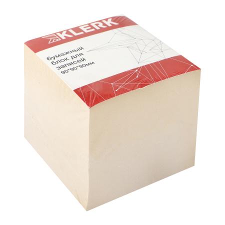 Блок для записей 9*9*9 куб газет 55-60г/м2 70-80% Эконом KLERK 205824