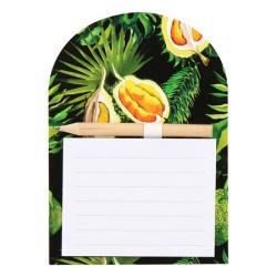 Блок для записей 140*100мм, проклеенный, рисунок, линия, 40л Durian КОКОС 212296