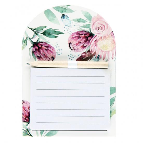 Блок для записей 140*100мм, проклеенный, рисунок, линия Spring Flowers КОКОС 210020