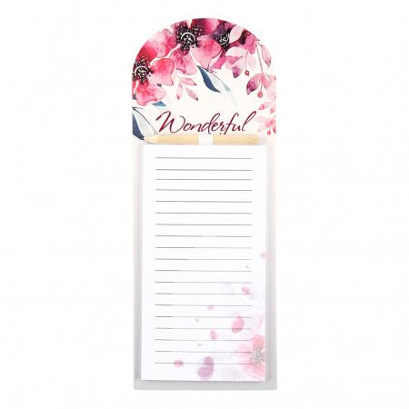 Блок для записей 10,5*27 40л склейка на магните 212594 Flowers КОКОС