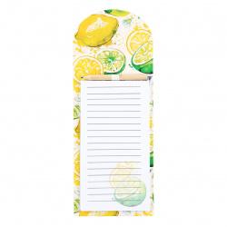 Блок для записей 10,5*27 40л склейка на магните 212293 Juicy Lemon КОКОС