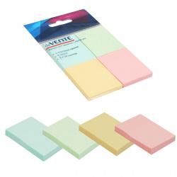 Блок самоклеящийся 40*50 50л набор 4шт 4 цвета в пластиковом блистере deVENTE 2010345