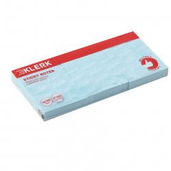 Блок самоклеящийся 38*50мм, 100л, набор 3шт, голубой KLERK 211290
