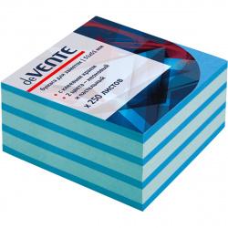 Блок самоклеящийся 50*50 250л 2цв deVENTE 2010336 неон голубой пастель