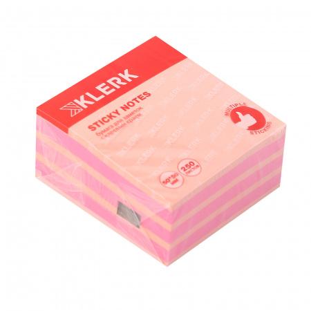 Блок самоклеящийся 50*50мм, 250л, 2 цвета, неон, пастель   KLERK 211293