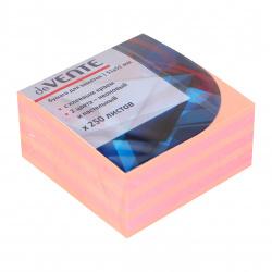 Блок самоклеящийся 50*50мм, 250л, 2 цвета, неон, пастель   deVENTE 2010338