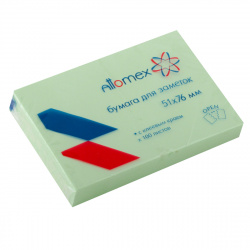 Блок самоклеящийся 51*76 100л Attomex 2010708 зеленый
