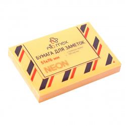 Блок самоклеящийся 51*76 100л Attomex 2010906 неон оранжевый