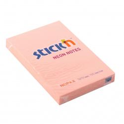 Блок самоклеящийся 51*76мм, 100л, розовый, неон Hopax 822653