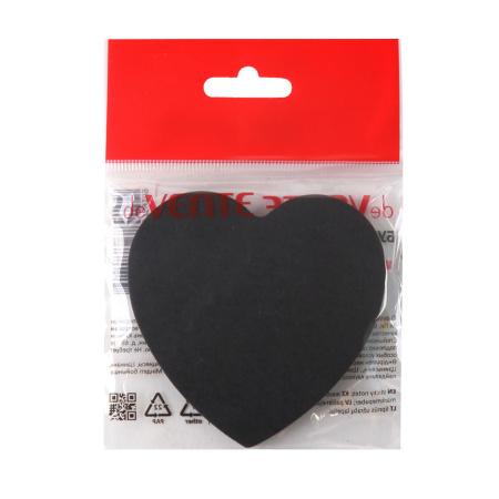 Блок самоклеящийся 70*70 50л deVENTE Black heart 2010008 черная бумага