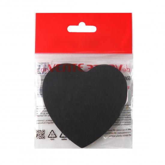 Блок самоклеящийся фигурный, 70*70мм, 50л, черный Black heart deVENTE 2010008