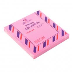 Блок самоклеящийся  76*76мм, 100л, малиновый, неон  Attomex 2010915