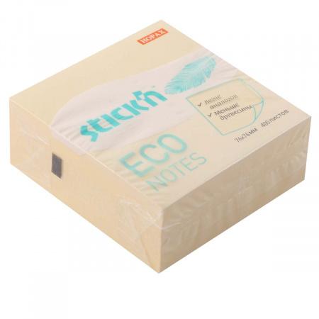Блок самоклеящийся 76*76мм, 400л, желтый, пастель Eco Hopax 1065774