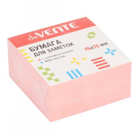 Блок самоклеящийся 76*76мм, 400л, розовый deVENTE 2010102