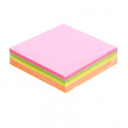 Блок самоклеящийся 76*76мм, 200л, 5 цветов, неон Basir MC-3481