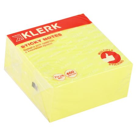 Блок самоклеящийся 76*76 400л KLERK 206915 Neon желтый