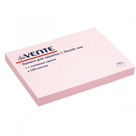 Блок самоклеящийся 76*101 100л deVENTE 2010319 розовый