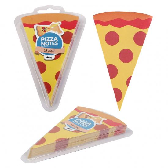 Блок самоклеящийся фигурный, 90*140мм, 100л, рисунок Пицца  КОКОС 190121