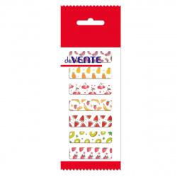 Закладки клейкие бумажные 12*44 7цв*25л deVENTE Fruits 2011852