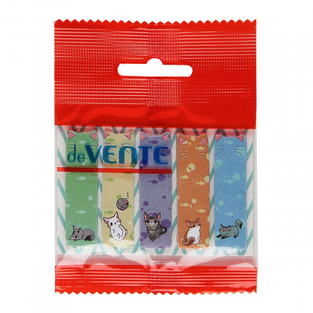Закладки клейкие бумажные 12*44 5*20л deVENTE Кошки 2011843