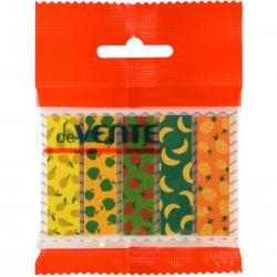 Закладки клейкие Fruit pattern бумага, 12*44мм, 5 цветов, 20л, рисунок deVENTE 2011019