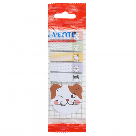 Закладки клейкие бумажные 12*44+45*45 6*20л deVENTE Cats  2011855