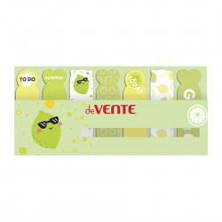 Закладки клейкие Lime бумага, 18*65мм, 7 цветов, 20л, рисунок deVENTE 2011014