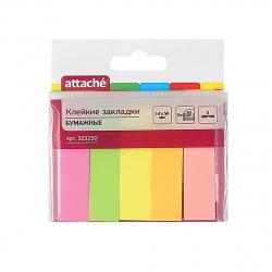 Закладки клейкие бумажные 14*50 5цв*250л Attache 353250 неон
