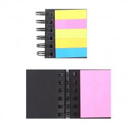 Закладки клейкие бумага, 15*50+51*76мм, 5 цветов, 25л, неон, цвет ассорти deVENTE 2011002