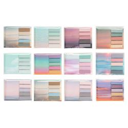 Закладки клейкие Rainbow бумага, 12*45+50*74мм, 6 цветов, 20л, рисунок КОКОС 211317