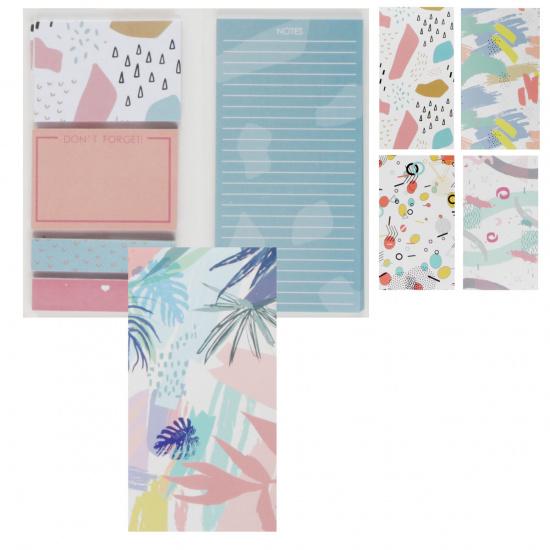 Закладки клейкие бумага, ассорти, 5 цветов, 35л, рисунок КОКОС 206166