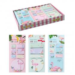 Закладки клейкие бумажные 4-7цв*19л КОКОС LIANG DIAN Highlights Фламинго 205420 ассорти 3 вида