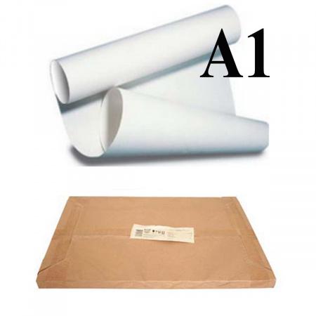 Ватман   А1 (610*860мм), 180г/кв.м., 300л, водяной знак, белый Гознак 10