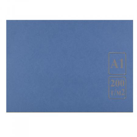 Ватман цвет тонир А1 600*840 200г/м Лилия Холдинг (100л) синий