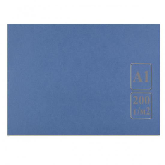 Ватман   тонированный, А1 (600*840мм), 200г/кв.м., 100л, синий Лилия Холдинг КЦА1син.