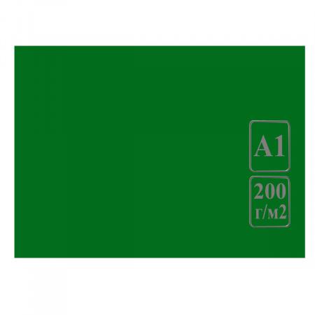 Ватман цвет тонир А1 600*840 200г/м Лилия Холдинг (100л) зеленый