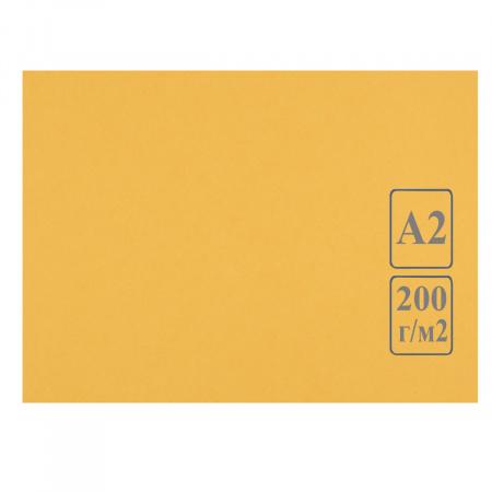 Ватман цвет тонир А2 420*594 200г/м Лилия Холдинг (50л) желт