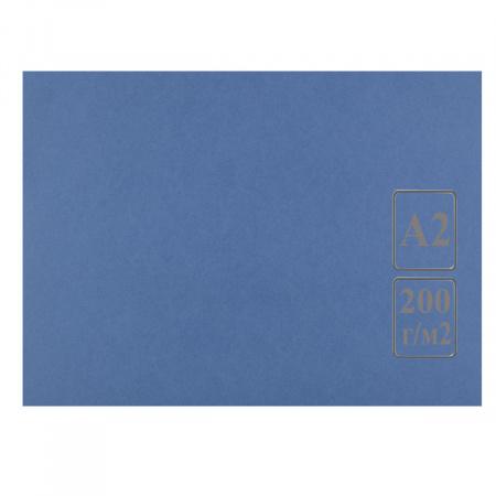 Ватман цвет тонир А2 420*594 200г/м Лилия Холдинг (50л) синий